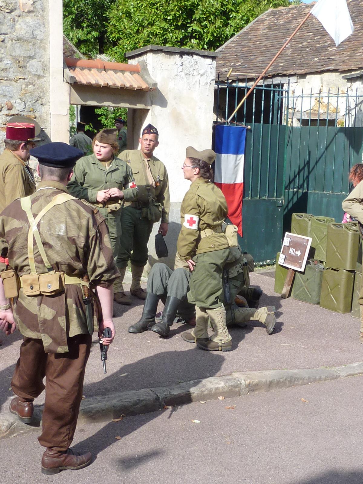 Les forces militaires étaient présentes